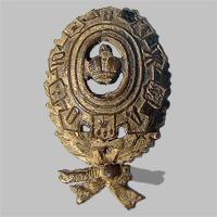 Знак на головной убор служащего Общества Юго-Восточных ж.д. «О.Ю.В.Ж.Д.» (Тип 2)