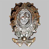 Знак на головной убор служащего Общества Юго-Восточных ж.д. «О.Ю.В.Ж.Д.» (Тип 4)