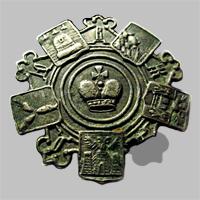 Знак петличный и на головной убор служащего Общества Юго-Восточных ж.д. «О.Ю.В.Ж.Д.» (Тип 2)