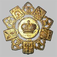 Знак петличный и на головной убор служащего Общества Юго-Восточных ж.д. «О.Ю.В.Ж.Д.» (Тип 3)