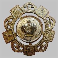 Знак петличный и на головной убор служащего Общества Юго-Восточных ж.д. «О.Ю.В.Ж.Д.» (Тип 4)