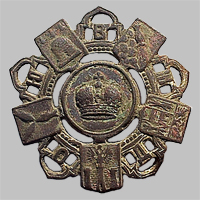 Знак петличный и на головной убор служащего Общества Юго-Восточных ж.д. «О.Ю.В.Ж.Д.» (Тип 5)