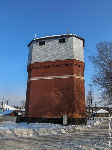 Водонапорная башня на станции Графская