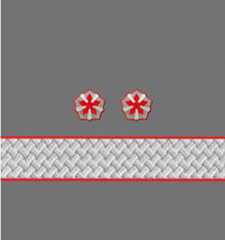 Нарукавные знаки различия 2-й должностной категории высшего состава ОАО «РЖД» образца 2010 года