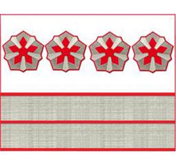 Нарукавные знаки различия 4-й должностной категории старшего состава ОАО «РЖД» образца 2010 года