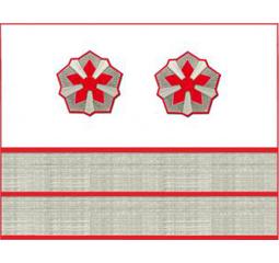 Нарукавные знаки различия 6-й должностной категории старшего состава ОАО «РЖД» образца 2010 года