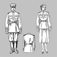 Форма младшего начальствующего и рядового составов НКПС (МПС) образца 1943 года