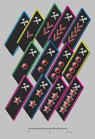 Петлицы с цветами кантов по роду служб образца 1932 года
