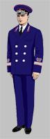 Размещение знаков различия на форменной одежде Президента ОАО «РЖД» образца 2010 года