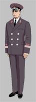 Размещение знаков различия на форменной одежде вице-президентов ОАО «РЖД» образца 2010 года