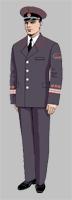 Размещение знаков различия на форменной одежде старшего, среднего и младшего начальствующих составов ОАО «РЖД» образца 2010 года