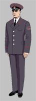 Размещение знаков различия на форменной одежде рядового состава ОАО «РЖД» образца 2010 года