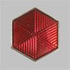Знак различия по должностям работников промышленного транспорта образца 1936 - 1943 годов «шестиугольник» (копия)