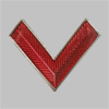 Знак различия по должностям работников промышленного транспорта образца 1936 - 1943 годов «угол» (копия)