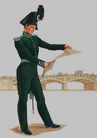 Поручик Корпуса инженеров путей сообщения (1830-1840 годы)