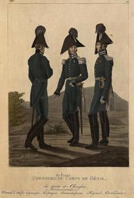 Штаб- и обер-офицеры и воспитанник Корпуса инженеров путей сообщения (1816 год) ГЭ