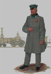 Машинист Николаевской железной дороги (1861 год)