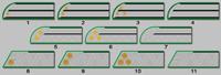 Галунные петлицы на воротник мундира ведомства Министерства путей сообщения (1869-1876 годов)