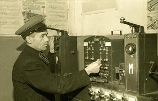 Дежурный по станции Оредеж. Фото 1950-е годы