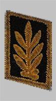 Шитье на петлице высшего начсостава МПС образца 1973 года для черного пиджака
