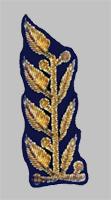 Шитье на петлице высшего начсостава МПС образца 1985 года для темно-синего пиджака