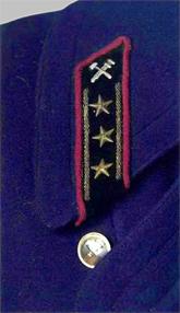 Петлица на шинели старшего начальствующего состава МПС образца 1955 года