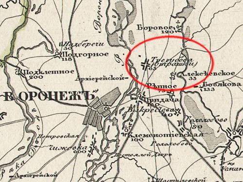 Спец. карта западной части России генерал-лейтенанта Ф.Ф. Шуберта (1853 год)