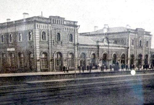 Фото воронежского вокзала из путеводителя начала 1900-х годов