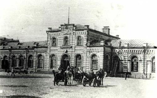 Фото воронежского вокзала конца 1920-х годов