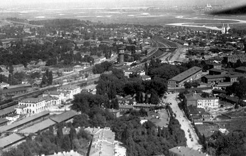 Фото довоенного воронежского вокзала с высоты 1930-е годы