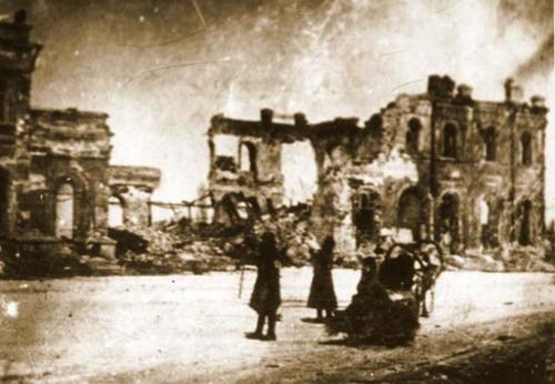 Фото взорванного немецкими войсками воронежского вокзала
