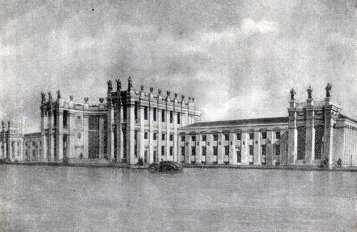 Проект здания воронежского вокзала (1952 год)