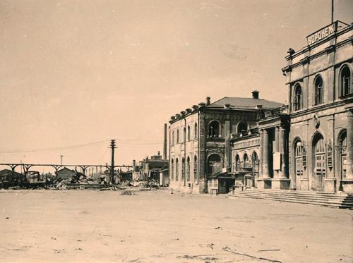 Фото воронежского вокзала. Немецкий снимок (лето 1942 год)