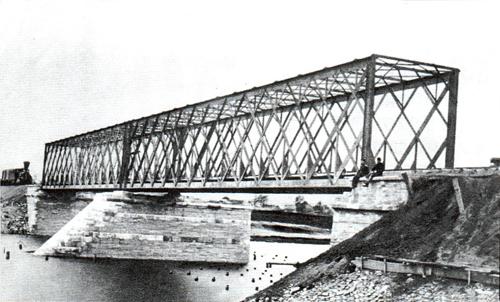 Ю.В.ж.д. Мост через реку